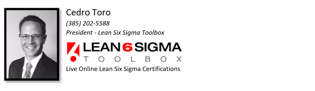 cedro toro - lean six sigma toolbox founder